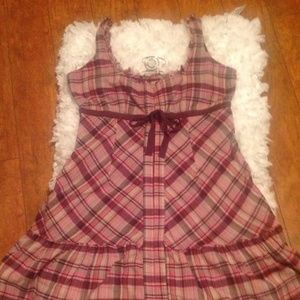 Free People Plaid Fab  Dress Size 10